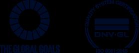 global goals - DNV-GL iso:9001 logo