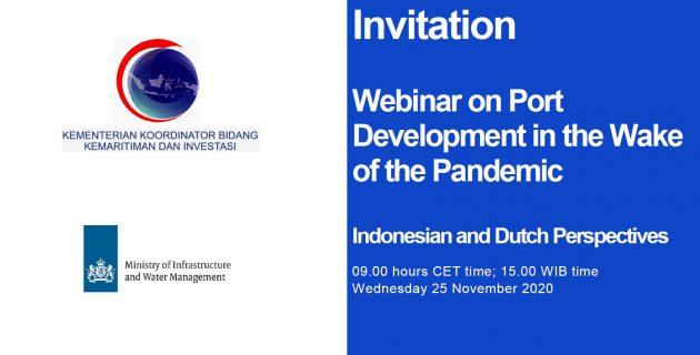 Webinar on Port Development in the wake of the Pandemic